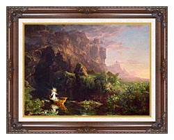 Thomas Cole Voyage Of Life Childhood 1842 canvas with dark regal wood frame