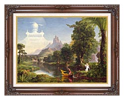 Thomas Cole Voyage Of Life Youth 1842 canvas with dark regal wood frame