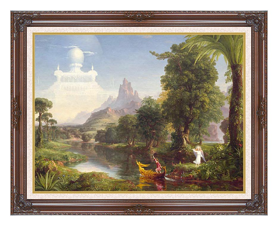 Thomas Cole Voyage of Life: Youth 1842 with Dark Regal Frame w/Liner