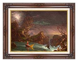 Thomas Cole Voyage Of Life Manhood 1842 canvas with dark regal wood frame
