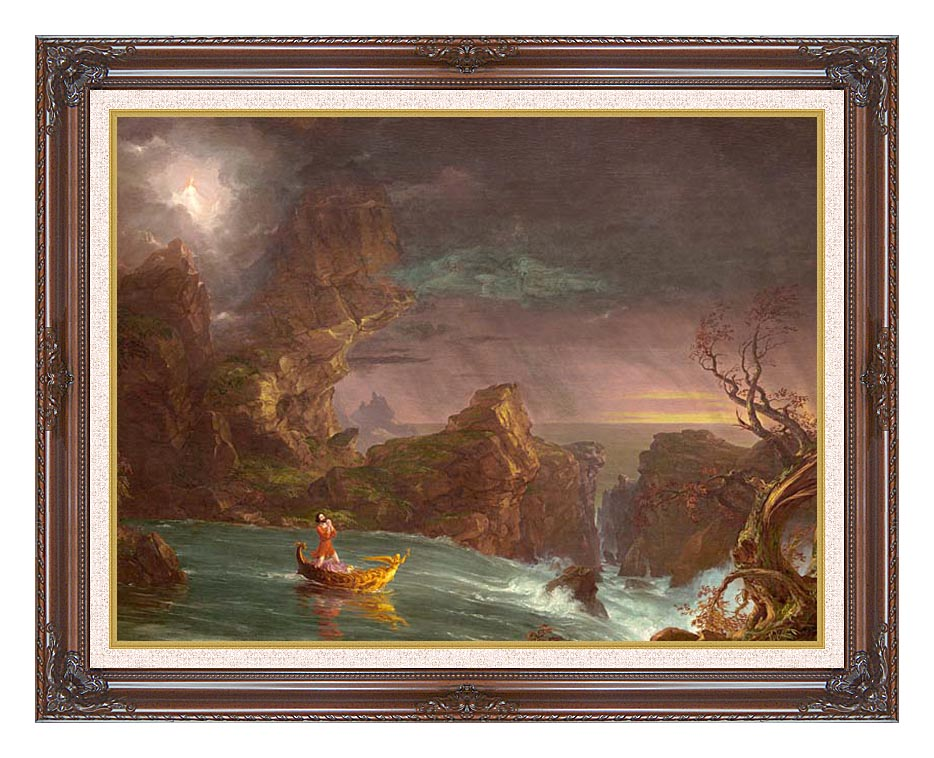 Thomas Cole Voyage of Life: Manhood 1842 with Dark Regal Frame w/Liner