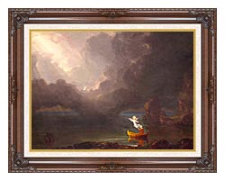Thomas Cole Voyage Of Life Old Age 1842 canvas with dark regal wood frame