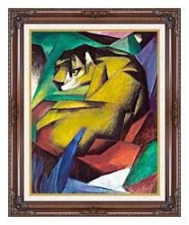 Franz Marc The Tiger canvas with dark regal wood frame