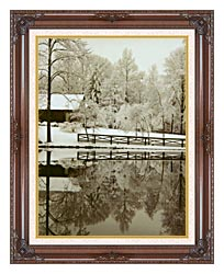 Ray Porter Images canvas with dark regal wood frame