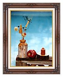 Ray Porter Autumn Still Life canvas with dark regal wood frame