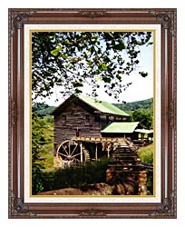 Ray Porter Old Mill canvas with dark regal wood frame