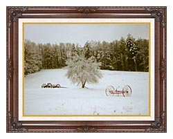 Ray Porter Crystal Tree canvas with dark regal wood frame