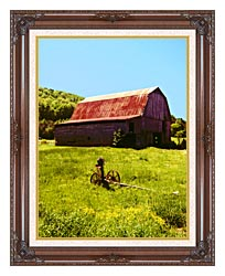 Ray Porter Country Springtime canvas with dark regal wood frame