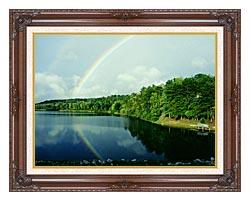 Ray Porter Rainbow canvas with dark regal wood frame