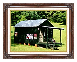 Ray Porter Country Store canvas with dark regal wood frame