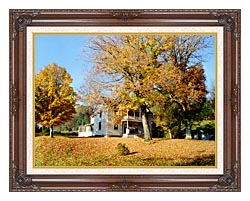 Ray Porter Country House canvas with dark regal wood frame