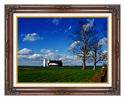 Ray Porter Uncle Buds Barn canvas with dark regal wood frame
