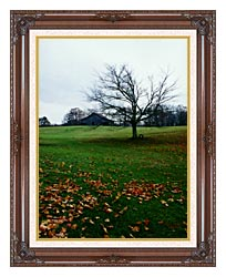 Ray Porter Winters Nye canvas with dark regal wood frame