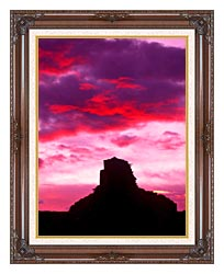 Visions of America Indian Ruins At Sunset Chaco Canyon New Mexico canvas with dark regal wood frame