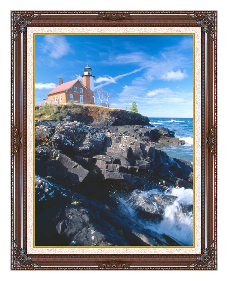 Visions of America Eagle Harbor Lighthouse, Michigan with Dark Regal Frame w/Liner