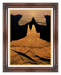 Visions of America The Navajo Tribal Park At Sunset canvas with dark regal wood frame