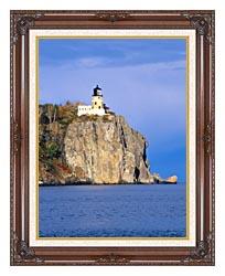 Visions of America Split Rock Lighthouse Minnesota canvas with dark regal wood frame