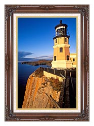 Visions of America Split Rock Lighthouse State Park Minnesota canvas with dark regal wood frame