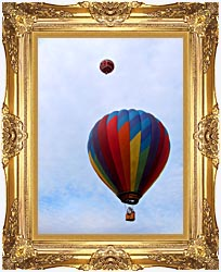 Brandie Newmon Hot Air Balloons canvas with Majestic Gold frame