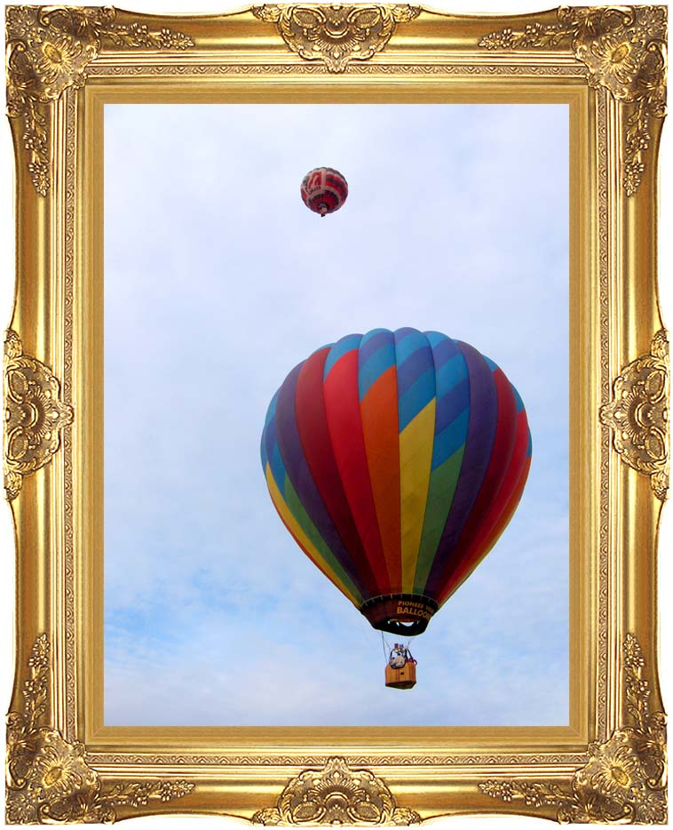 Brandie Newmon Hot Air Balloons with Majestic Gold Frame
