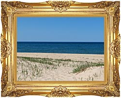 Brandie Newmon Race Point Beach Provincetown Massachusetts canvas with Majestic Gold frame