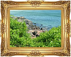 Brandie Newmon Marginal Way Ogunquit Maine canvas with Majestic Gold frame