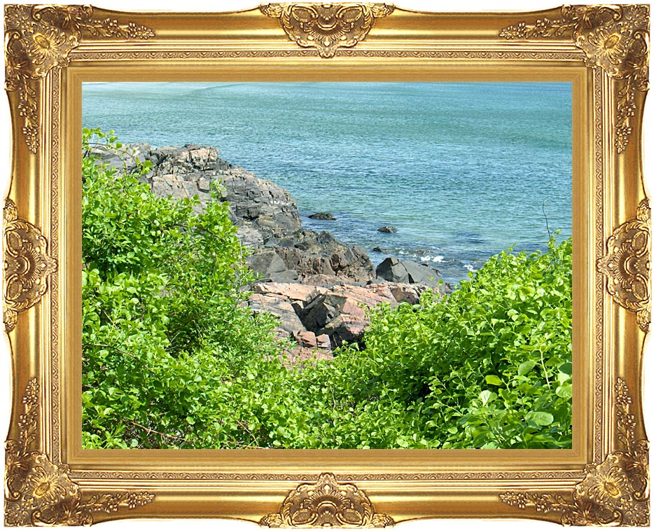 Brandie Newmon Marginal Way, Ogunquit Maine with Majestic Gold Frame