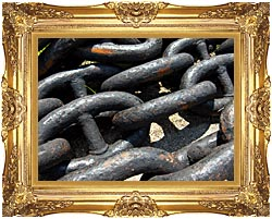 Brandie Newmon Ship Anchor Chains canvas with Majestic Gold frame