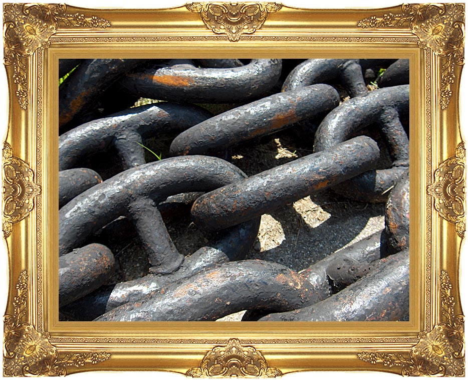 Brandie Newmon Ship Anchor Chains with Majestic Gold Frame