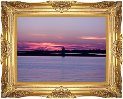 Brandie Newmon Provincetown Lighthouse At Dusk Massachusetts canvas with Majestic Gold frame