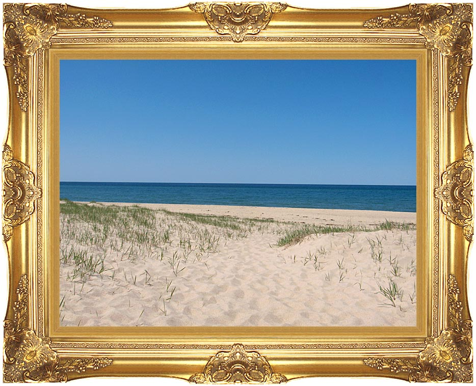 Brandie Newmon Sandy Beach in Provincetown Massachusetts with Majestic Gold Frame