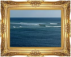 Brandie Newmon Ocean Waves In Ogunquit Maine canvas with Majestic Gold frame