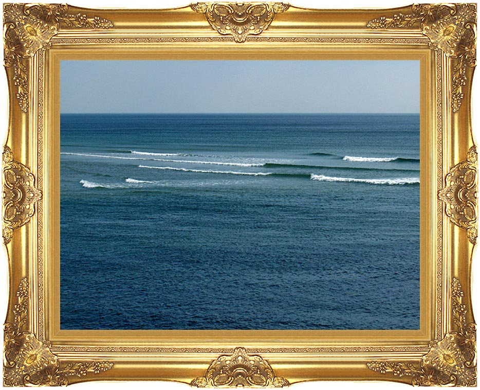 Brandie Newmon Ocean Waves in Ogunquit, Maine with Majestic Gold Frame