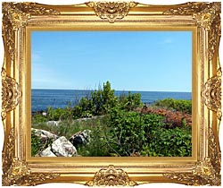 Brandie Newmon Marginal Way Overlook canvas with Majestic Gold frame