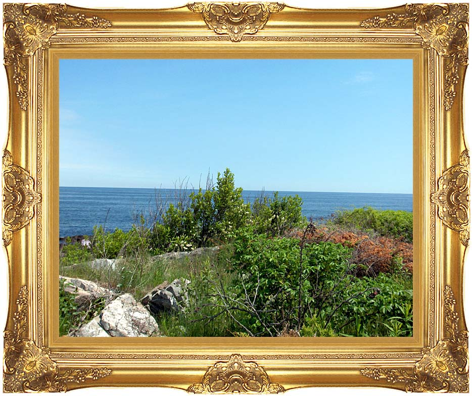 Brandie Newmon Marginal Way Overlook with Majestic Gold Frame