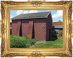 Brandie Newmon Artillery Magazine In Portsmouth New Hampshire canvas with Majestic Gold frame