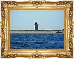 Brandie Newmon Wood End Lighthouse Provincetown Massachusetts canvas with Majestic Gold frame
