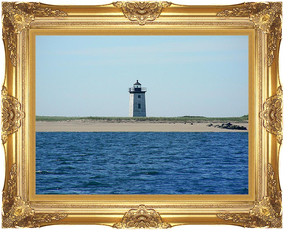 Brandie Newmon Wood End Lighthouse Provincetown, Massachusetts with Majestic Gold Frame