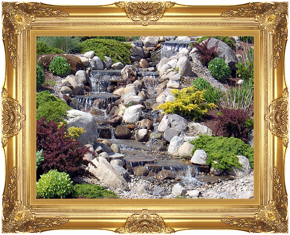 Brandie Newmon Waterfall in Ogunquit, Maine with Majestic Gold Frame