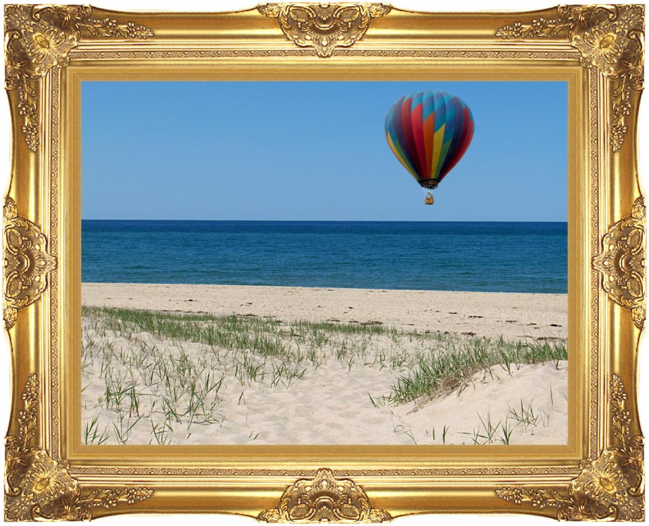 Brandie Newmon Hot Air Balloon at the Beach with Majestic Gold Frame