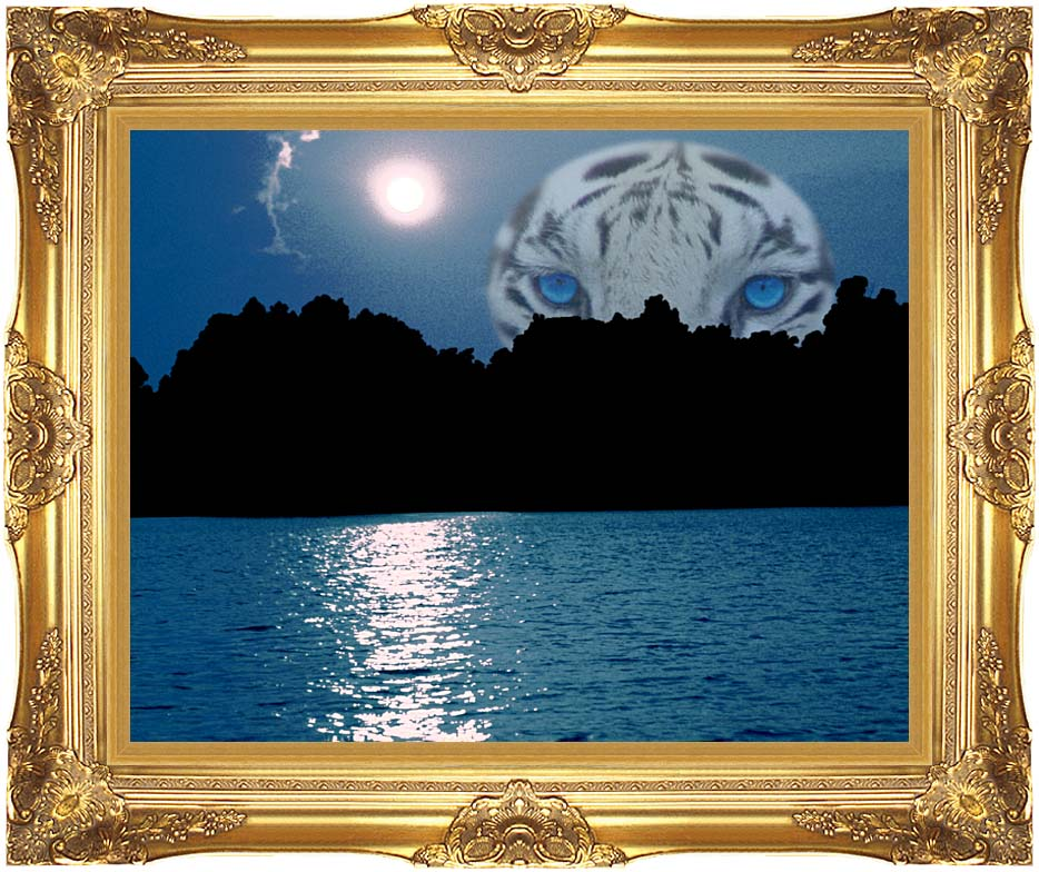 Brandie Newmon Eye of the Tiger with Majestic Gold Frame