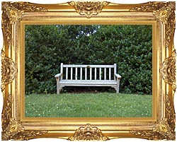 Brandie Newmon Scenic Park Bench canvas with Majestic Gold frame