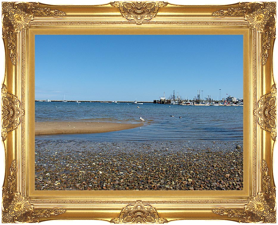 Brandie Newmon Provincetown Harbor with Majestic Gold Frame