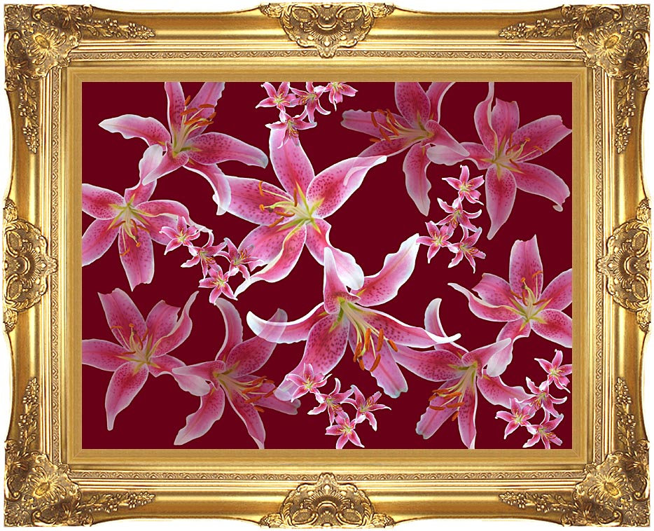 Brandie Newmon Lilies with Majestic Gold Frame