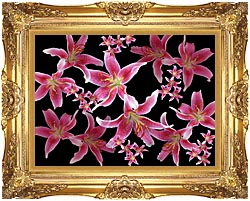 Brandie Newmon Lily canvas with Majestic Gold frame