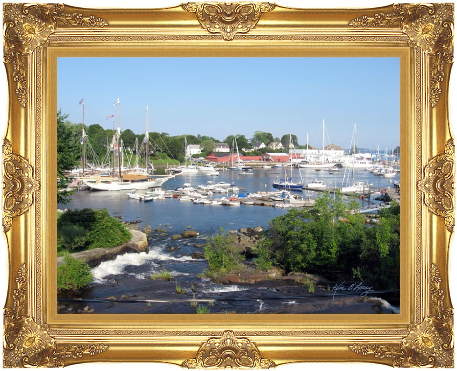 Kim O'Leary Photography Camden Harbor, Camden Maine with Majestic Gold Frame
