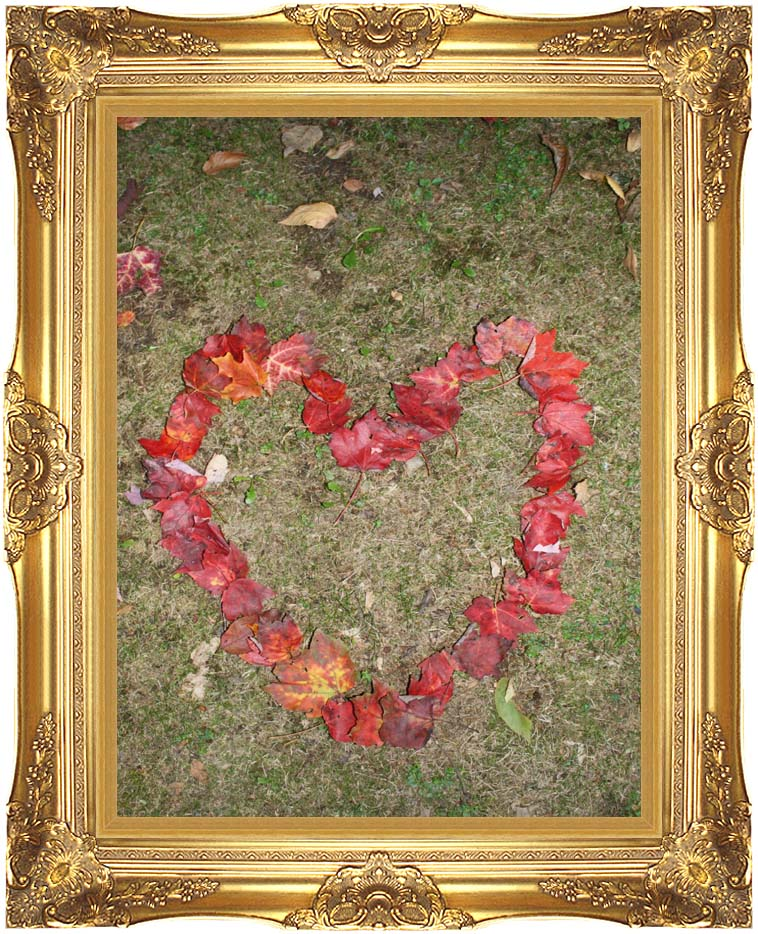 Kim O'Leary Photography Heart of Leaves with Majestic Gold Frame