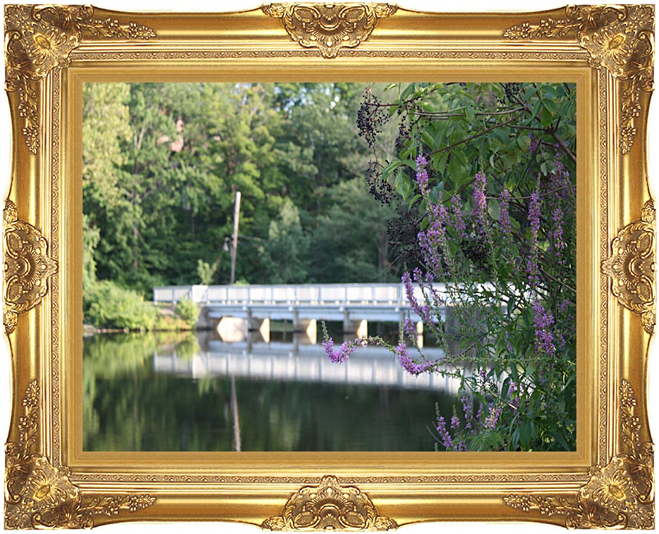 Kim O'Leary Photography Bridge Walkway Reflection with Majestic Gold Frame