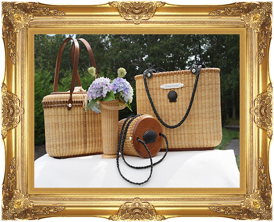 Kim O'Leary Photography Simply Put Nantucket Baskets with Majestic Gold Frame