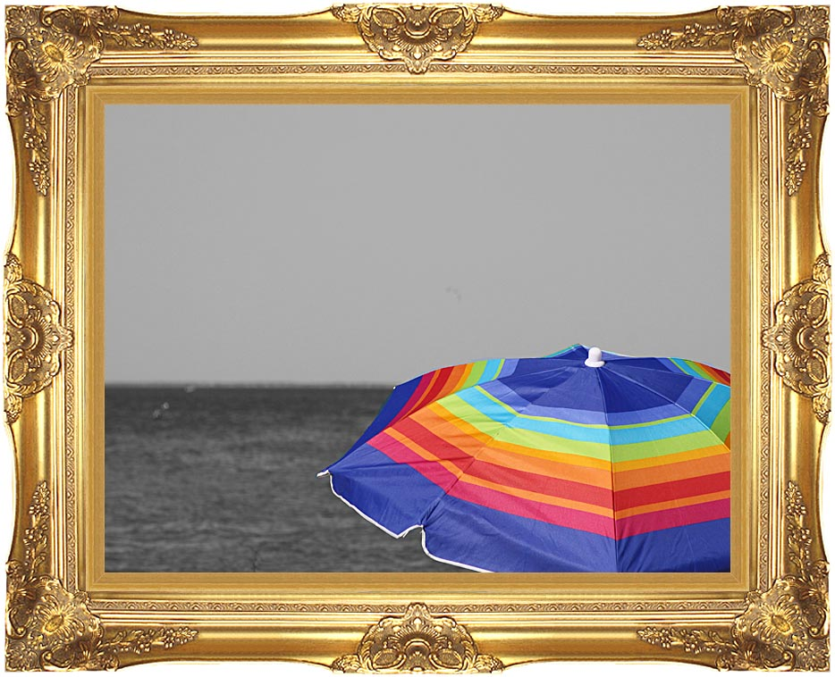Kim O'Leary Photography Colorfull Umbrella with Majestic Gold Frame